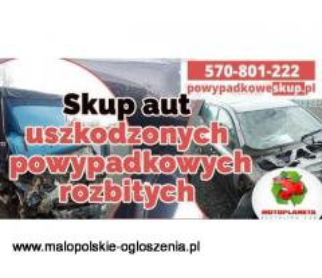 Skup aut uszkodzonych , skup samochodów powypadkowych, samochodów rozbitych Najlepsze ceny